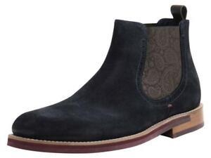 Ted Baker Men's Secaint Dark Blue Chelsea Boots Shoes
