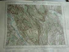 CARTE IGN  1/ 50000 - 1942 à 1957 - feuille BELLEY - VIRIEU - ARTEMARE