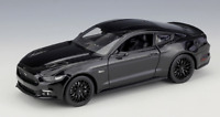 Welly 1:24 2015 Ford Mustang GT 5.0 Black Diecast Model Racing Car New in Box