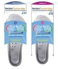 Backjoy Silver Comfort Insoles / Shoe Inserts Silver - Women's 6-10