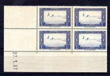 ALGERIE  YVERT  n° 101 neuf avec charnière - Bloc de 4 coin daté