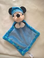 Doudou peluche Disney Nicotoy Mickey Bleu Lune etoile Nuage Phosphorescent neuf
