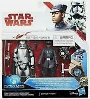 "Disney Star Wars Last Jedi Force Link First Order Finn & Captain Phasma 3.75"""