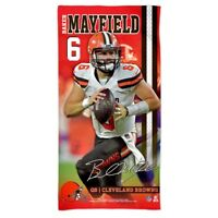 "BAKER MAYFIELD #6 CLEVELAND BROWNS 30""X60"" SPECTRA BEACH TOWEL NEW WINCRAFT"