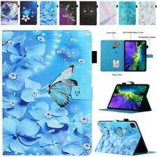 "For iPad 7.9"" 9.7"" 10.2"" 10.5"" 11"" 12.9"" Smart Patterns Stand Wallet Case Cover"