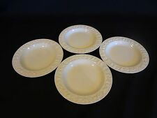 Wedgwood China's Embossed Cream on Cream w/Plain Edge - Set of 4 Bread Plates