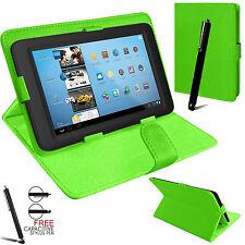 """Universal Plegable Folio Libro De Cuero Funda Soporte para Android Tablet PC 7"""""""