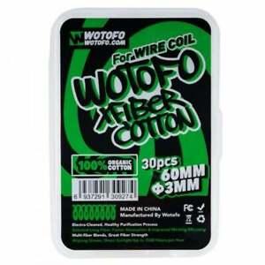 Wotofo XFiber Cotton - Vape Wick 3mm & 6mm Strips w/ Aglet