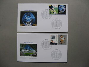 GERMANY BRD, 2x cover FDC 2005, sport stamps with tab WC soccer football, Bonn
