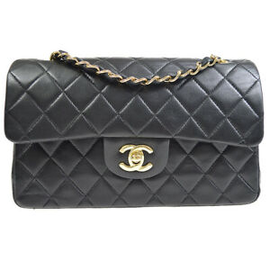 CHANEL Classic Double Flap Small Chain Shoulder Bag 7571973 Black uwp 36646