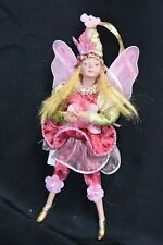 Christmas Angel. Fairy. Pink and Green.