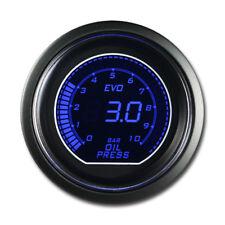 EVO Series Oil Pressure Gauge Blue Red Backlit Included Electronic Sensor Kits
