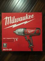 Milwaukee 1/2 in. Impact Wrench, Rocker Switch and Detent Pin Socket Retention