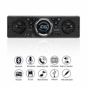 Car Radio Stereo with Built-In Speakers Bluetooth USB MP3 Hands Free 2021