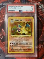 1999 Pokemon Base Set Game Charizard 4/102 Holo PSA 3 VG