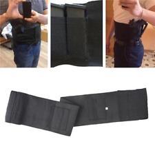 Black Concealed Elastic Handgun Carry Waist Belly Band Gun Holster & Zipper Bag