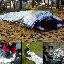 Useful Outdoor Emergency Survival Rescue Thermal Space Foil Sleeping Bag Blanket