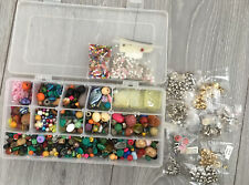 Mixed beads & findings for jewellery making crafting - some new in pack