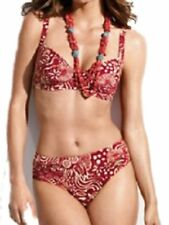 NEU Triumph Rot Bügel Bikini UK 40d, EUR 44d FR 46d NEU Bademode UVP £ 59