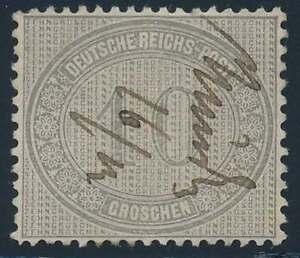 D.Reich Nr. 12 mit Federzugentwertung, 10 Groschen Innendienstmarke (38399)