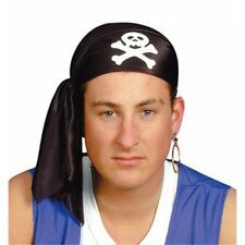 Felt Pirate Scarf Black, Halloween Fancy Dress Parties, Long John Silver 1160401