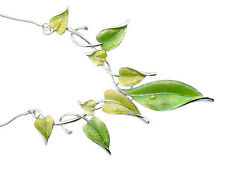 Necklace with Earrings - Colour Green with hint of yellow