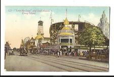 Old Postcard Loop The Loop Roller Coaster Surf Avenue CONEY ISLAND NY Street Car