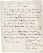 Ordre du jour. Gardes Nationales de France. Signé Charles Philippe et Kentzinger