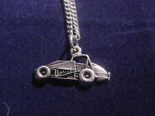 NON WING  USAC sprint car charm necklace auto Tracey' Racing Jewelry