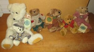 Vintage   Lot of 6  -  BOYDS BEARS   Retired Plush Bears  with Tags