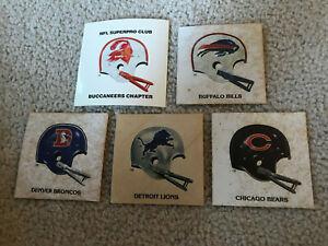 ORIGINAL 1983 NFL SUPERPRO CLUB TAMPA BAY BUCS CHAPTER DECAL STICKER+ 4 VINTAGE