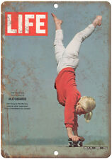 "1965 Life Magazine Cover Patti McGee Skateboard 10"" X 7"" Reproduction Metal Sign"