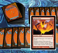 mtg RED FIREBREATHING DECK Magic the Gathering rare cards inferno titan