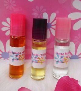 Rose Jasmine Perfume Body Oil Fragrance .33 oz Roll On One Bottle 10ml
