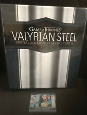 GAME OF THRONES VALYRIAN STEEL SPECIAL EDITION BINDER WITH PROMO 1A