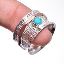 Turquoise Gemstone Ring Size 8 925 Solid Sterling Silver HANDMADE Fine Jewelry