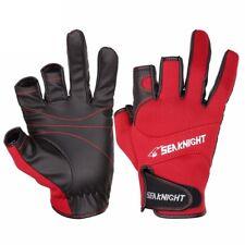 Ice Fishing Gloves Winter Fish Catch Leather 3 Half Finger Waterproof Warm Easy