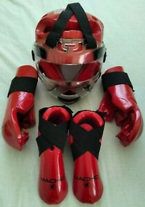 MACHO Martial Arts Karate Taekwondo MMA 5pc Sparring Protective Gear