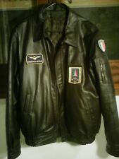 D... Giubbotto Blu con Ricamo Frecce Tricolori Aeronautica Militare New P//E'19