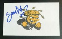 SAM ADKINS NCAA Wichita State Shockers Auto Autographed Signed 3x5 Index Card