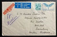 1939 Geneva Switzerland Airmail cover To Salisbury Southern Rhodesia