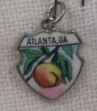 Vintage REU Sterling/Enamel Atlanta, Georgia Peach Bracelet/Travel Charm - NOS
