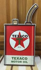 VINTAGE STYLE Texaco Oil Can Metal Gas Pump Advertising Man Cave Decor