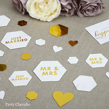 Wedding Table Confetti - Gold Text - Perfect Wedding Table Decoration