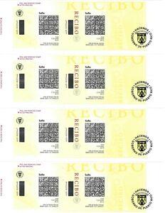 Puerto Rico revenue stamps complete uncut sheet of 4.mint  10 cents stamps