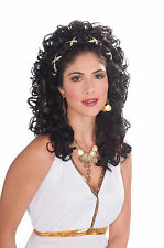 Black Roman Greek Goddess Costume Wig