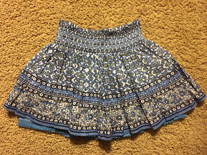 Girl's Justice Blue / White Skort Size 14 Elastic Stretch Waist