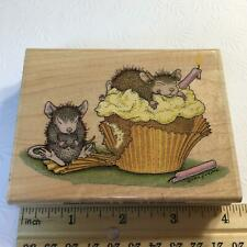 New listing Stampabilities Birthday Cupcake Mudpie Muzzy Hmjr1007 House Mouse rubber stamp