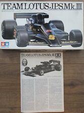 Tamiya 20004 - Team Lotus JPS MkIII - 1/20 Scale - Box & Instructions ONLY !