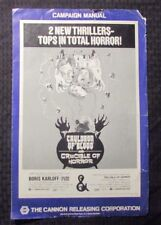 "1970 Cauldron of Blood / Crucible Horror Double Pressbook G/VG 3.0 11x17"" 4pgs"